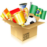 Soccer Items Stock Photography