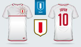 fa4794b3e Soccer jersey or football kit template design for Japan national football  team. Front and back