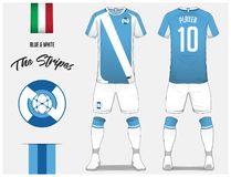 ce64a7b65 Soccer jersey or football kit template for football club. Blue and white stripe  football shirt