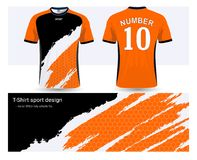 Soccer jersey and t-shirt sports design template royalty free illustration