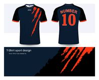 Soccer jersey and t-shirt sports design template vector illustration
