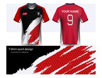 Soccer jersey template for football club or sportswear uniforms, Front and back shots available