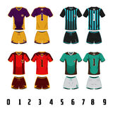 Soccer Jersey Uniform Design Stock Photos