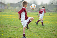 Soccer Juggling Royalty Free Stock Photo