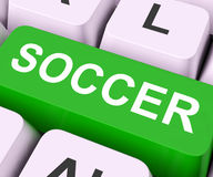 Soccer Key Means Football or Rugby Royalty Free Stock Image