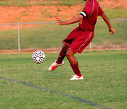 Soccer Kick Royalty Free Stock Photography