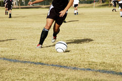 Soccer kick Stock Images