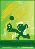 Soccer Kick Green. A Character Kicking A Soccer Ball Stock Photography