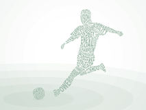 Soccer. Kicks the Ball. Royalty Free Stock Image