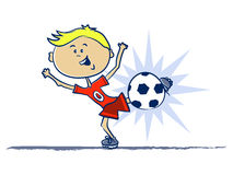 Soccer Kid Illustration Royalty Free Stock Photo