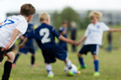 Soccer kids stock photography