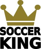 Soccer King Crown Royalty Free Stock Images