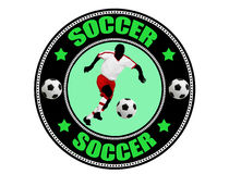 Soccer  label Royalty Free Stock Photo