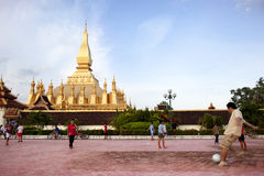 Soccer in Laos Royalty Free Stock Photos