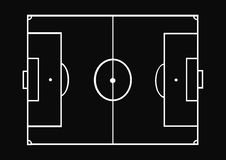 Soccer layout Stock Photography
