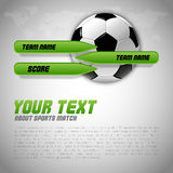 Soccer Layout Royalty Free Stock Photos