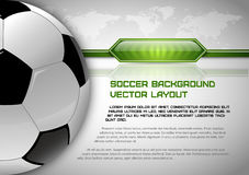 Soccer Layout Royalty Free Stock Photography