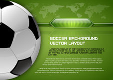 Soccer Layout Royalty Free Stock Image