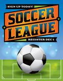 Soccer League Flyer Illustration Royalty Free Stock Images