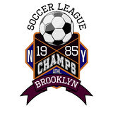 Soccer League New York Champs Brooklyn T-shirt stock illustration