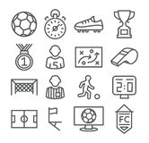 Soccer Line Icons Stock Photography