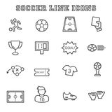 Soccer line icons Royalty Free Stock Image