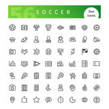 Soccer Line Icons Set Royalty Free Stock Photography