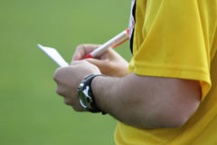 Soccer line referee (close up) Royalty Free Stock Image