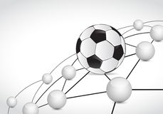 Soccer link sphere network connection concept Royalty Free Stock Image