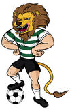 Soccer Lion Mascot Royalty Free Stock Photo