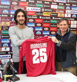 Soccer livorno presentation morosini Royalty Free Stock Photo