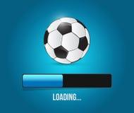 Soccer loading bar illustration design Royalty Free Stock Photos