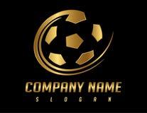 Soccer  logo. Soccer logo on black background Stock Images