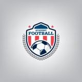Soccer Logo Design Template ,Football badge team identity , Soccer Football T-shirt graphic. Royalty Free Stock Photos