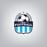 Soccer Logo Design Template ,Football badge team identity , Soccer Football T-shirt graphic. Stock Image