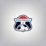 Soccer Logo Design Template ,Football badge team identity , Soccer Football T-shirt graphic. Royalty Free Stock Photo