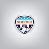 Soccer Logo Design Template ,Football badge team identity , Soccer Football T-shirt graphic. Stock Photo
