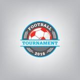 Soccer Logo Design Template , Football badge team identity. Stock Photos