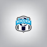 Soccer Logo Design Template , Football badge team identity. Stock Image