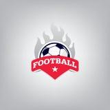 Soccer Logo Design Template , Football badge team identity. Stock Images