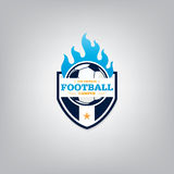 Soccer logo emblem design,vector illustration Stock Photo