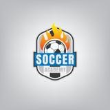 Soccer logo emblem design,vector illustration Royalty Free Stock Photos