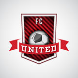 Soccer logo, football emblem Royalty Free Stock Images