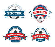 Soccer Logo Set Royalty Free Stock Photo