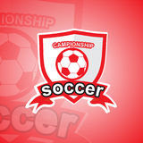 Soccer logo template Royalty Free Stock Images