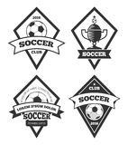 Soccer logo templates collection isolated white Royalty Free Stock Photography