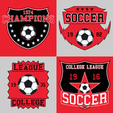 Soccer logo typography, t-shirt graphics. Vector illustration Stock Images