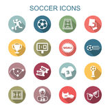 Soccer long shadow icons Stock Photography