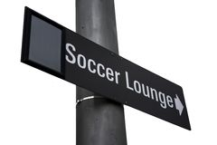 Soccer lounge sign Royalty Free Stock Images