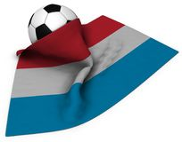 Soccer luxembourg. Soccer ball and flag of luxembourg - 3d rendering Royalty Free Stock Photos